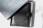 Чёрный кожаный мужской кошелёк werlima с монетницей