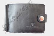 Стильный кожаный мужской зажим для купюр ST Leather Accessories