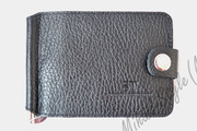 Рифлёный кожаный мужской зажим для купюр ST Leather Accessories