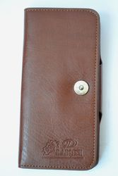 Кожаный мужской кошелёк-визитница DAIQISI с множеством отделов
